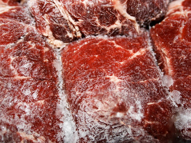 frosted beef meat